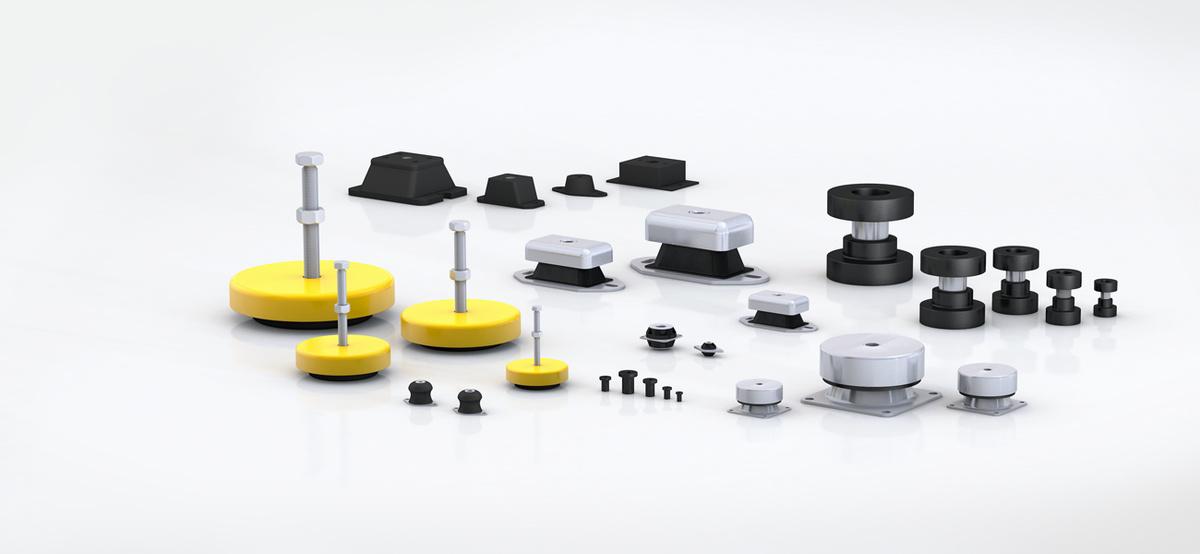 Rubber-metaal-isolatoren