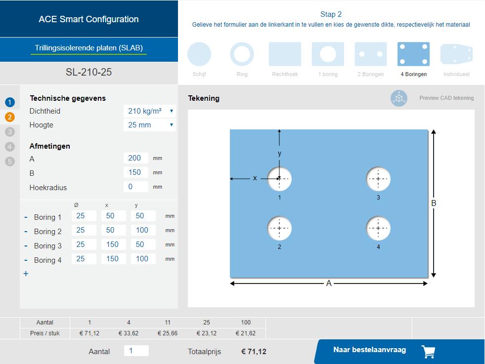 Online isolatiematten configurator